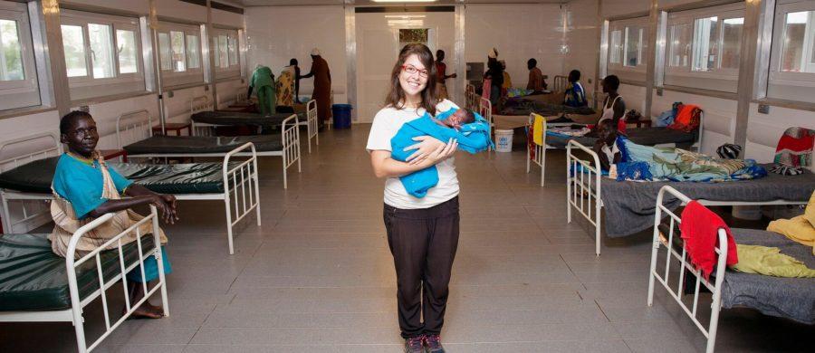 Viviane Mastrangelo e o primeiro bebê nascido no hospital