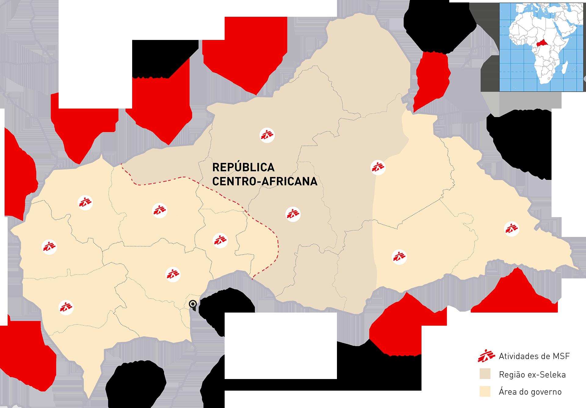 mapa República Centro-africana